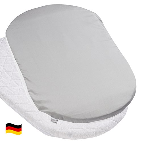 Bezug für Matratze oval für Stubenwagen Dessin 579 anthrazit