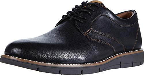 Dockers Mens Nathan Leather Dress Casual Oxford Shoe, Black, 9.5 M