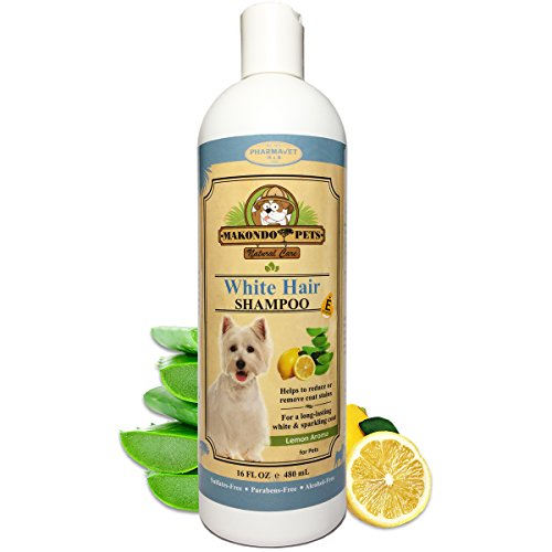 Dog Whitening Shampoo– for Dogs with White/Light...