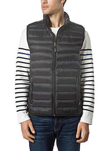 XPOSURZONE Men Packable Lightweight Down Vest Outdoor Puffer Vest Black 1X