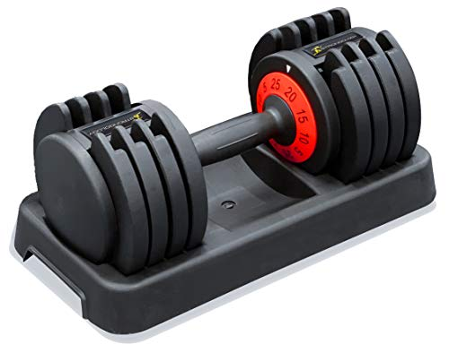 Strongology Tundra 25 Home Fitness Adjustable Smart Dumbbell from 5kg to 25 kg Training Weights