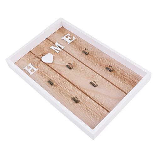 VOSAREA - Llavero de madera para pared de madera, llavero de pared, colgador de pared,...