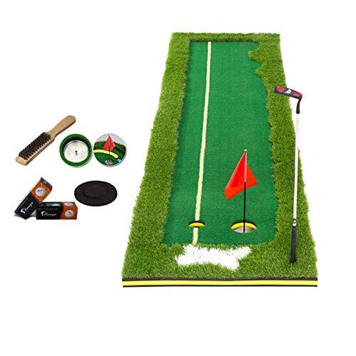 LLF Alfombras de Putting, Accesorio De Práctica De Golf, Colchonetas De Golf Versión Actualizada De Golf De Interior Putter Putter Putter Putter Practica Manta Conjunto De Césped De Cuatro Colores