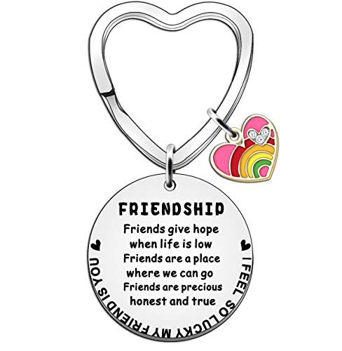 JETTOP Friends Gift Best Friend Keyring for Women Girl Friendship Jewellery...