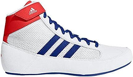 adidas HVC Zapatos de lucha libre para hombre, blanco, 8