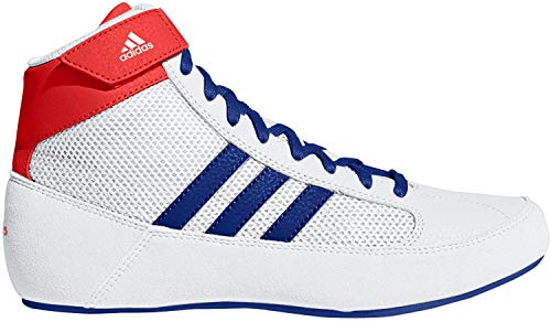 adidas Men's HVC Wrestling Shoe, White/Royal/Red, 15
