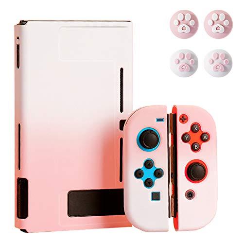 Schutzhülle für Nintendo Switch mit 4 Daumengriff-Kappen – tragbare, einzigartige Farbverlauf, ultradünne Tragetasche – passend für Nintendo Switch Konsole und Zubehör