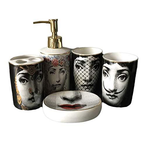 Dispensador de Jabón Cinco piezas de baño Set de accesorios de baños...