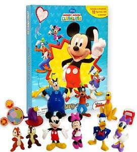Mickey Clubhouse Licensed Book & Figure Set