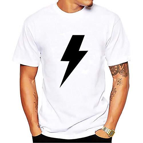 INSTO T-Shirt Créatif 3D Impression Personnalité Ac Dc Séries Modèle À Manches Courtes Maillot De Corps Dessin Animé Chemise Unisexe Simple Mode/Comme mon