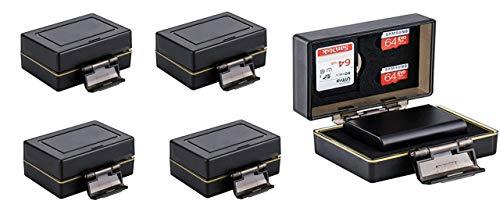 4 stuks - 2-1 geheugenkaarten en batterijbeschermbox voor Canon LP-E6, LP-E6N - waterdicht - bijv. EOS 5D Mark II, 5D Mark III, 5D Mark IV, 6D, 6D Mark II, 7D, 60D,60Da, 70D