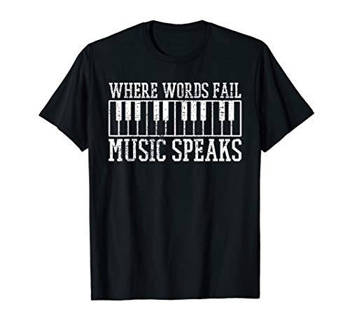 Piano Keyboard Pianist Music Teacher Gift T-Shirt