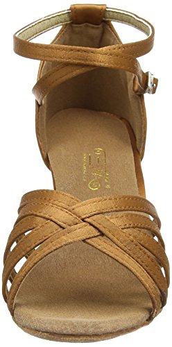 Amurleopard Damen Latein Schuhe 5cm Absatz Dunkelbraun 39(Herstellergröße:40) - 2