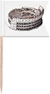 The Colosseum in Rome Italy Toothpick Flags Labeling Marking for Party Cake Food Cheeseplate