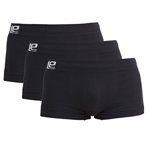 Lower East Herren Seamless Boxershorts, 3er-Pack, Schwarz, 2XL