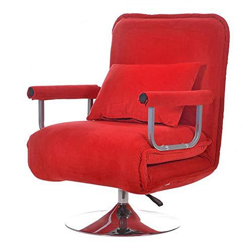 Z@SS Fauteuil Pliant,Home Canapé-Lit Fauteuil Sleeper Lounge Loisirs Fauteuil Inclinable pour La Lecture Regarder La Télévision,D