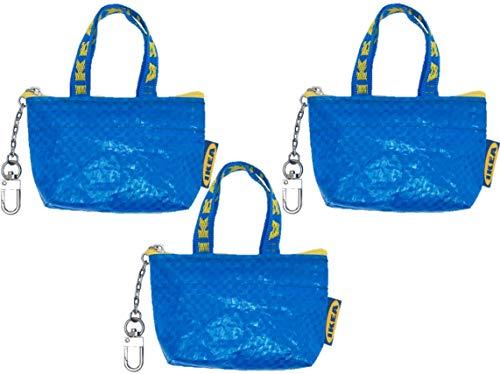 IKEA - Bolsa para llaves y monedas (tamaño pequeño, con cremallera), color azul