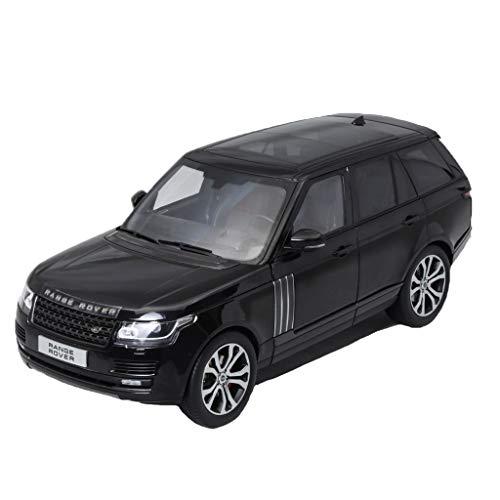 GAOQUN-TOY 01:18 Land Rover Range Rover Executive Edition 2017 Luxe SUV Alliage Noir Modèle De Voiture (Color : Black, Size : 25cm*11cm*9cm)