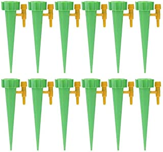 CRZD 12Pcs Auto Drip Irrigation Watering System Automatic Watering Spike for Plants Garden Waterer Tool (Color : 12pcs Green)