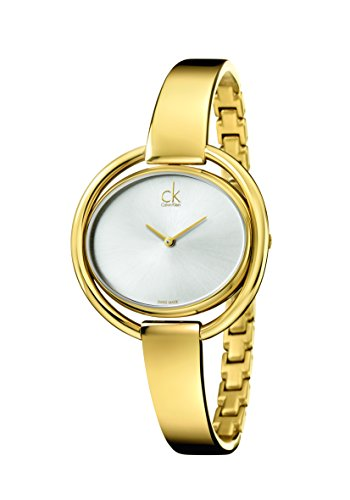 CK - Reloj de Cuarzo para Mujer, Correa de Acero Inoxidable Color Dorado