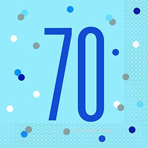 Party2u - Tovaglioli di compleanno per 70 anni, confezione da 16 pezzi