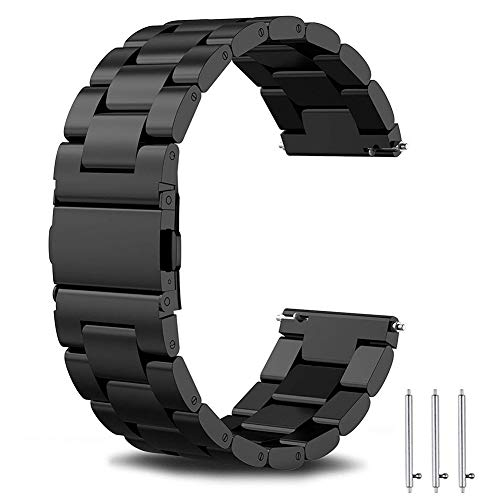 SUNDAREE Kompatibel mit Galaxy Watch 3 Armband 45MM,22MM Uhrenarmband Edelstahl Armband Ersatz Metallarmband für Samsung Galaxy Watch3 45MM SM-R840/Huawei Watch GT2 46MM/Amazfit GTR 47MM(45 Schwarz)
