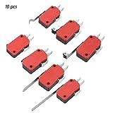 10 Pezzi Mini Interruttore a Levetta SPDT Micro Interruttore Leva Lunga, Micro Interruttor...