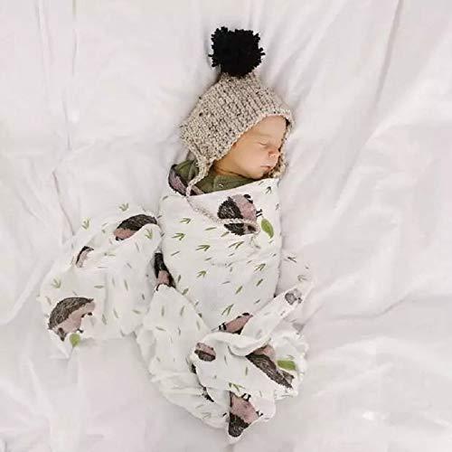 xingxing Manta de muselina 100% algodón para bebés recién nacidos, mantas suaves, ropa de cama, toalla de baño, 120 x 120 cm (color: 2)