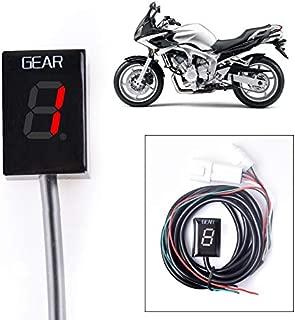 For Kawasaki NINJA 400 2018 NINJA 650 2012-2016 NINJA 650 R 2006-2011 NINJA 1000 2011-2016 Motorcycle Gear Indicator LED 1-6 Level Display Shift Light Bike Meter Red,With Honder