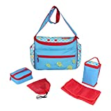 Fisher-Price Logan Mother Bag 5 pcs Set, Baby Diaper Bag with Insulated Twin