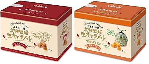 【花畑牧場】生キャラメル 常温タイプ (プレーン45g+夕張メロン45g)2個セット