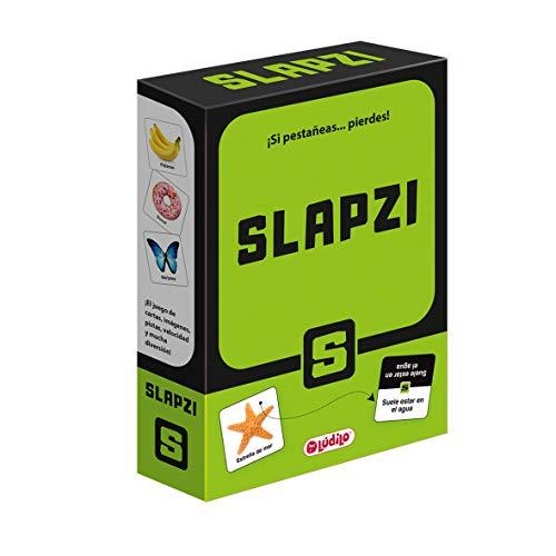 LUDILO Slapzi, juegos educativos para niños, Juego cartas Muy Divertido para Jugar en Familia o Amigos, sé el más rápido en Encontrar la Carta de Imagen, Velocidad y percepción