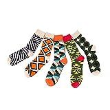 TRIWORIAE - Pack de 5 Paires de Chaussettes Colorées Fantaisie pour Hommes Coton Peigné 41-46EU