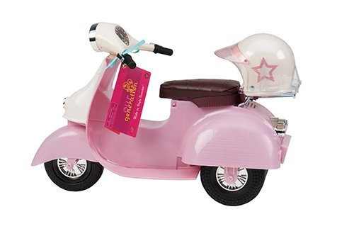 Our Generation 44723 Pink & Ivory Scooter