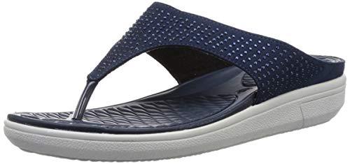 BATA Women Blossom Thong Blue Slippers-5 UK (38 EU) (5719988)