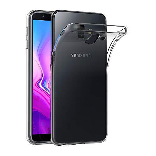AICEK Samsung Galaxy J6 Plus Hülle, Transparent Silikon Schutzhülle für Samsung J6 Plus Hülle Clear Durchsichtige TPU Bumper Galaxy J6 Plus Handyhülle (6,0 Zoll)