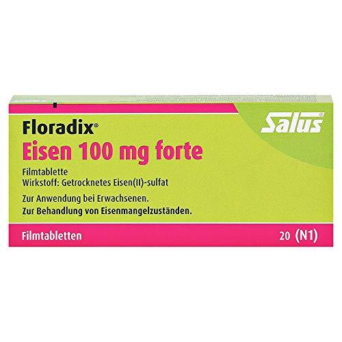 FLORADIX Eisen 100 mg forte Filmtabletten 20 St Filmtabletten