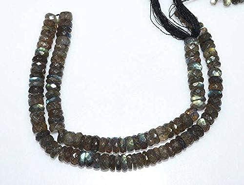 muy popular Jewel Beads Gems-Jewellery Gems-Jewellery Gems-Jewellery Brand New Labradorite Faceted Tyre Beads, Labradorite Tyre Rondelle, Tyre Beads, Rare Item, Sold by Strand, 7-8 mm, 14.5   comprar descuentos