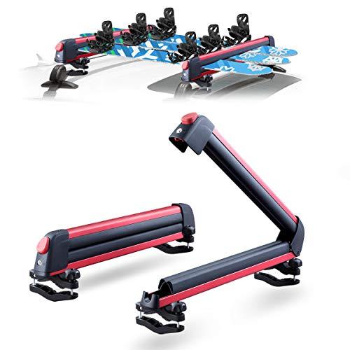 LEADRACKS Ski & Snowboard Racks for Car Roof, Fit 6 Pairs Skis Or 4 Snowboards Resistant to -60°C,...