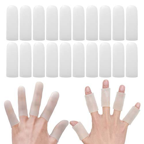 指サポーター 20個入り 手指保護キャップ 指関節サポーター ヘバーデン結節サポーター 指関節まもりん 指関節炎・突き指・バネ指に 指先・関節の保護 マメ・湿疹・ひび割れ・指関節炎・あかぎれ・外傷・深爪の防止 シリコン ゲル スポーツ