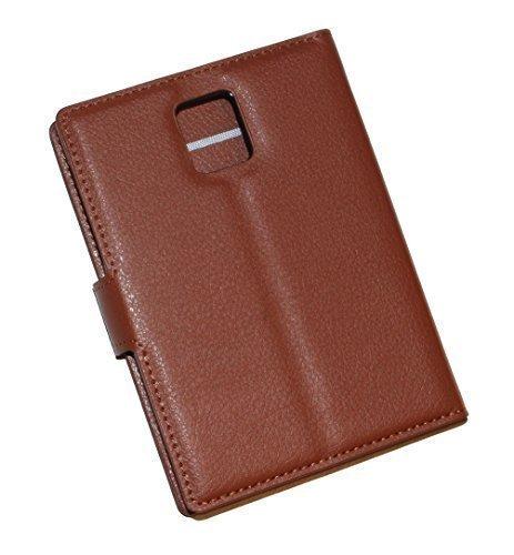 Schutztasche Hülle für Blackberry Passport Q30 Flip Case mit Kartenfächern und Standfunktion - Dealbude24 (Braun)