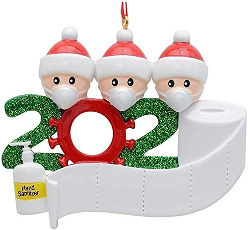 geneic Ornamento di Natale Xmas Tree Ornaments 2020 Decorazioni per la vigilia di Natale Famiglia sopravvissuta Messa in Quarantena a casa Famiglia