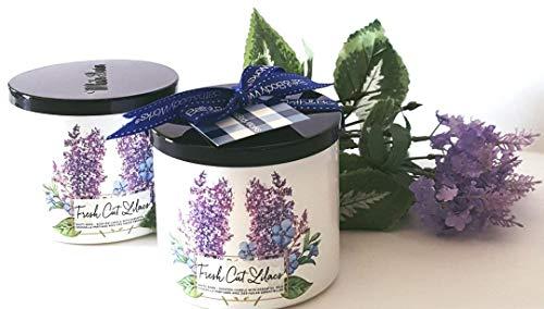 Bath & Body Works Candle 3 Wick 14.5 Ounce 2017 Fresh Cut Lilacs