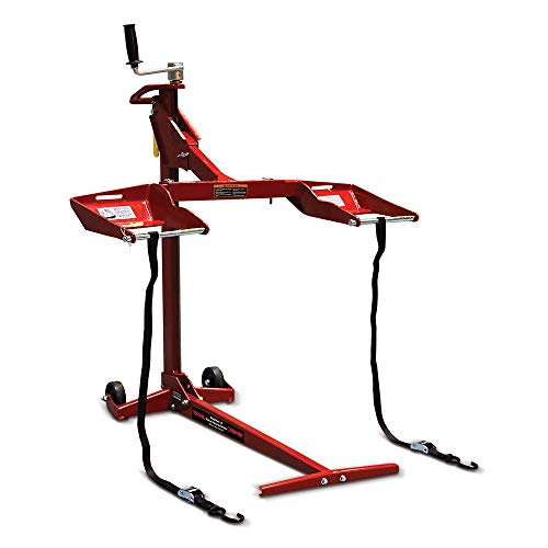 MoJack Troy-Bilt 45700, 500lb Capacity, Fits Most Residential and Zero Turn Riding Lawn Mower Lift, Red