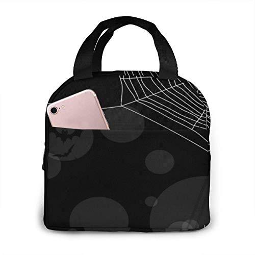 La bolsa de asas del bolso del almuerzo de los relojes de Steampunk de las telarañas, bolso aislado impermeable del refrigerador de la bolsa de Bento para