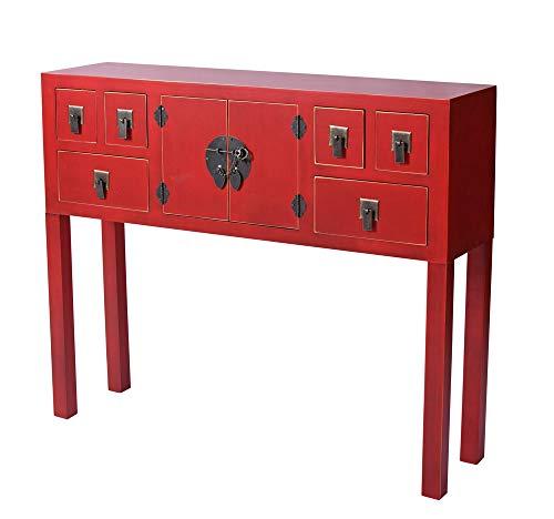 China Konsole Rot Wandtisch Konsolentisch Feng Shui Möbel Sideboard Kommode mya012 Palazzo Exklusiv
