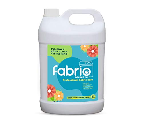 Fabrio Liquid Detergent 5L | Laundry Wash for Professional Fabric Care | Best For Machine Wash | Color Care With Stain Remover | Top-Load and Front Load washing