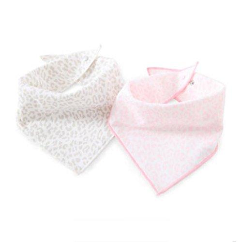 MXJ61 Triangle Serviette Coton Nouveau-Né Bavoirs Four Seasons Mâle Et Femelle Bébé 2 Pcs/Set (Couleur : Rose, Taille : 1 Set)