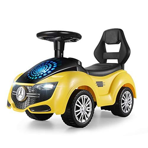 Enfants Twist Car Yo Car 1-3 Ans Bébé Scooter Jouet Voiture Enfant Voiture Balançoire Voiture Poussette Jouet FANJIANI (Couleur : Jaune)