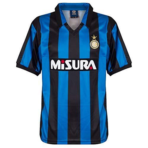 Score Draw Herren 1990 Inter Mailand Retro-Fußballtrikot -  Blau -  Groß